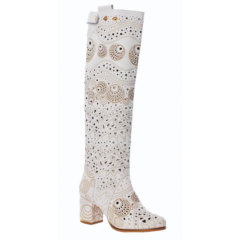 Купить женские летние кожаные сапоги в интернет